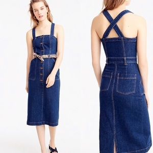 J crew button down denim dress